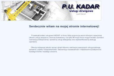 P u Kadar Lech Nocoń Usługi Dźwigowe - Maszyny budowlane Ełk
