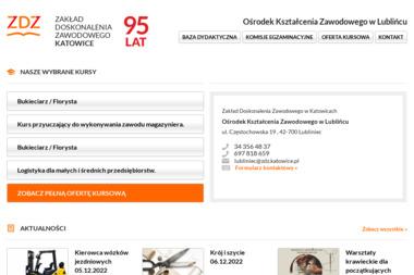 Ośrodek Kształcenia Zawodowego w Lublińcu Zakładu Doskonalenia Zawodowego w Katowicach - Kurs niemieckiego Lubliniec
