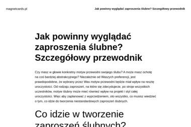 MagnetCards - Projektowanie Wizytówek Wrocław