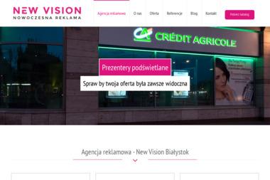 Agencja reklamowa - New Vision Białystok - Grafik Komputerowy Białystok