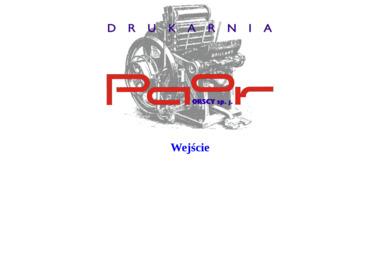 Drukarnia Paor Orscy S.J. - Wizytówki Kraków