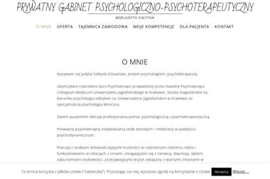 PRYWATNY GABINET PSYCHOLOGICZNO-PSYCHOTERAPEUTYCZNY mgr Judyta Sołtysik - Psycholog Rymanów