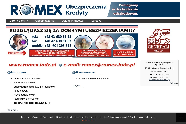Agencja ubezpieczeniowo-finansowa Firma Romex, Roman Jędrzejewski - Ubezpieczenie samochodu Łódź