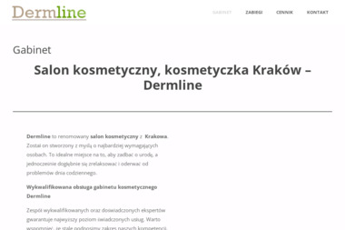 Salon kosmetyczny Kraków - Dermline - Zabiegi na ciało Kraków