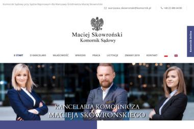 Komornik Sądowy Przy Sądzie Rejonowym Dla Warszawy-śródmieścia W Warszawie Maciej Skowroński - Skup długów Warszawa