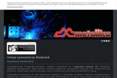 PPU Metallica-Spawanie Metodą Tig. Balustrady nierdzewne, schody - Spawacz Białystok