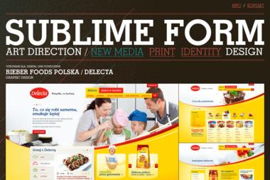 Sublime Form. Reklama, reklama internetowa - Identyfikacja wizualna Łódź