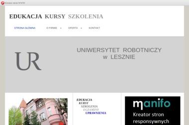 Uniwersytet Robotniczy - Uprawnienia na Wózki Widłowe Leszno