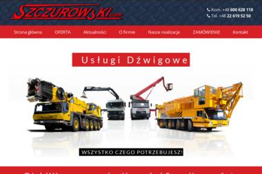 Jerzy Szczurowski. Usługi Dźwigowe - Usługi dźwigowe i pokrewne Warszawa