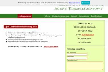 Agencja Ubezpieczeniowa Versus Sp. z o.o. - Pośrednictwo Ubezpieczeniowe Łódź