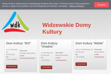 Widzewskie Domy Kultury - Nauki Tańca Towarzyskiego Łódź