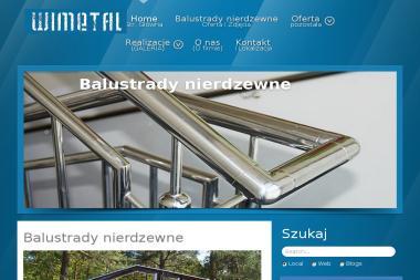 WIMETAL - Balustrady Balkonowe Nierdzewne Strzepcz