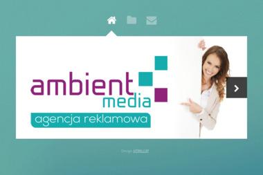 AMBIENT- MEDIA Agencja Reklamy oraz Mediów Interaktywnych Dawid Matyszczak - Wizytówki Jarocin