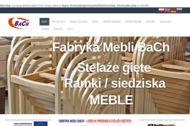 FABRYKA MEBLI BACH W.CHRUŚCIŃSKI P.BARYCZKO SPÓŁKA JAWNA - Drewnopochodne Pobiedziska