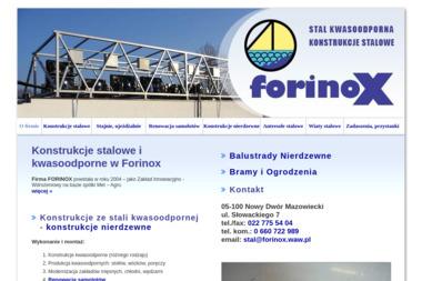 Forinox Konstrukcje Kwasoodporne - Balustrady ze Stali Nierdzewnej Nowy Dwór Mazowiecki