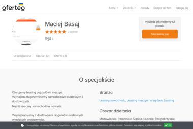 Maciej Basaj - Leasing samochodu Warszawa