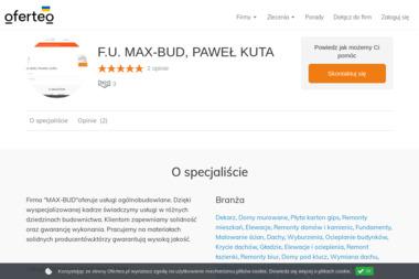 F.U. MAX-BUD, PAWEŁ KUTA - Izolacja fundamentów Laszki