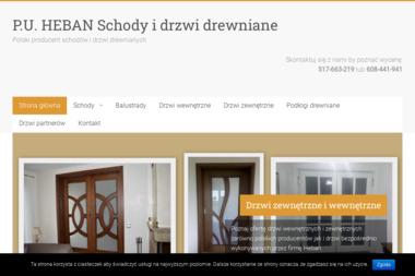 P.U.HEBAN - Schody Metalowo-drewniane Pabianice