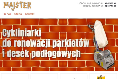 Majster. Wypożyczalnia maszyn i narzędzi budowlanych - Sprzedaż Maszyn Budowlanych Łódź