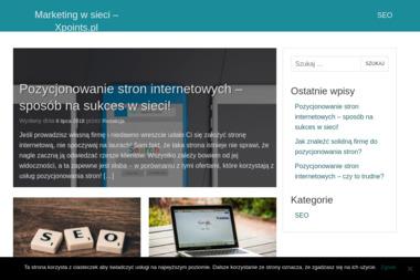 Agencja Reklamy Interaktywnej Xpoints Krzysztof Majchrzak. Agencje reklamowe, strony internetowe - Identyfikacja Wizualna Firmy Łódź