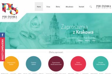 Poligrafia Pod Ósemk膮 S.C. Jerzy Pabian Magdalena Pabian Zofia Ró偶a艅ska - Wizytówki Kraków