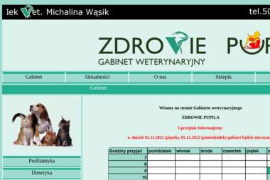 Gabinet Weterynaryjny Zdrowie Pupila Michalina Wąsik - Gabinet Weterynaryjny Kraków