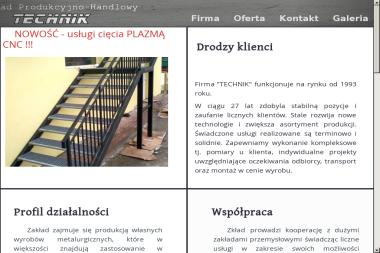 Zak艂ad Produkcyjno-Handlowy Technik Jan Krukar. Schody, bramy - Schody metalowe Miejsce Piastowe