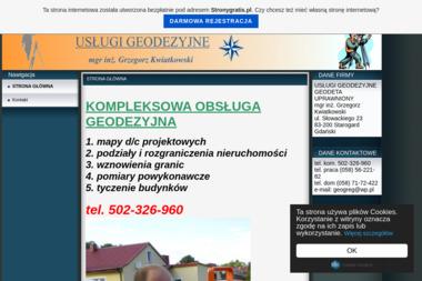 USŁUGI GEODEZYJNE Kwiatkowski Grzegorz - Geodeta Starogard Gdański