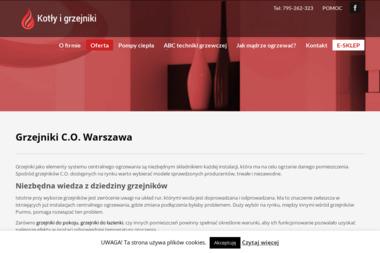 Grzejniki CO Warszawa - kotlygrzejniki.pl - Hydraulik Szczaki
