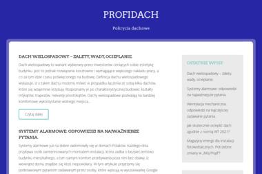 Profidach - Pokrycia dachowe Szczecin