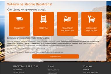 FHUT Bacatrans - Jacek Bieszczad - Transport Międzynarodowy Dębica
