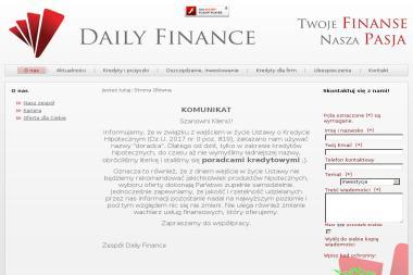 Daily Finance Klaudyna Muszyńska - Kredyty Dla Zadłużonych Poznań