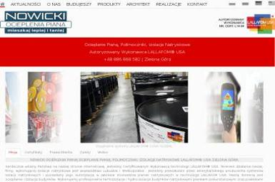Firma Handlowa Artur Nowicki - Ocieplanie Pianką PUR Żary