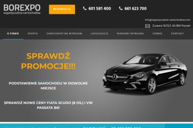 Wypożyczalnia samochodów Borexpo E.R. Borowieccy Sp.J. - Wynajem Aut Poznań