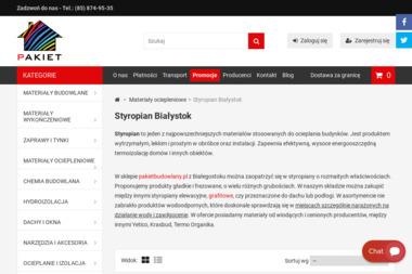 Styropian elewacyjny Białystok - Hurtownia Pakiet - Dachówka Bitumiczna Białystok