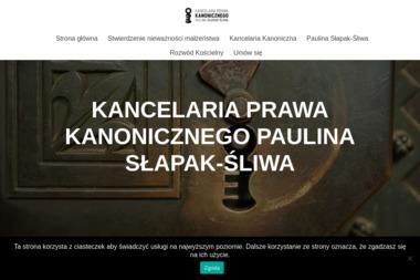 Kancelaria Prawa Kanonicznego Paulina Słapak-Śliwa - Prawo Kraków