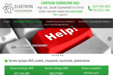 """Komp & AGD Serwis 24h Tychy """"Elektron Housework"""" Anna Szymańska - Naprawa zmywarek Tychy"""