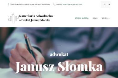 Kancelaria Adwokacka adwokat Janusz Słomka - Adwokat Rawa Mazowiecka