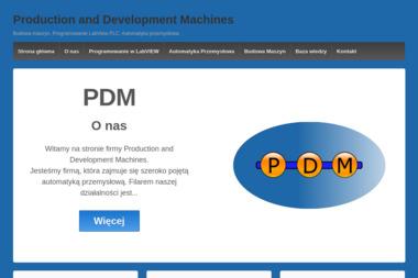 PDM Production and Development Machines - Dostawcy maszyn i urządzeń Wrocław