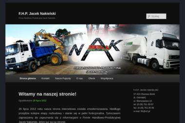Firma Handlowo-Produkcyjna Jacek Nakielski - Piasek Olszewo-Borki