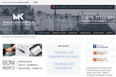 Kancelaria Radcy Prawnego Magdalena Kowalik - Prawnik Kraków
