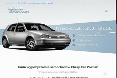 Wypożyczalnia samochodów Cheap Car - Wypożyczalnia Aut Poznań