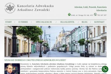 Kancelaria Adwokacka Arkadiusz Zawadzki - Obsługa prawna firm Łódź