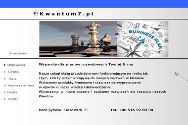Kwantum7.pl - Biznes Plan Firmy Zielona Góra