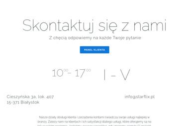 Starflix Warsaw Sp. z o.o - Obsługa Informatyczna Firm Białystok