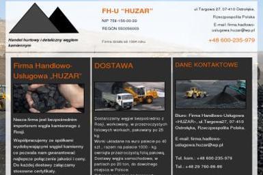 """Firma Handlowo-Usługowa """"HUZAR"""" - Skład opału Ostrołęka"""