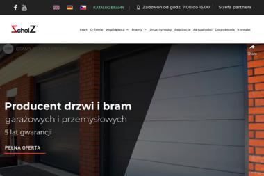 """Producent bram i ogrodzeń """" Scholz"""" - Bramy garażowe Czeladź"""
