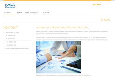 MSA Projekt Sp. z o.o. - Plan Biznesowy Krosno