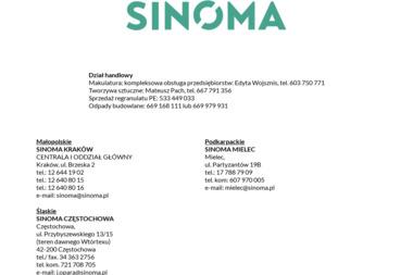 Sinoma - Przetwarzanie odpadów Kraków