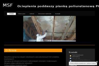 MSF Ewa Nowakowska - Ocieplanie Pianką PUR Doleck